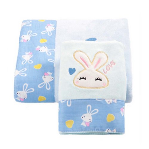 Baby Strong Absorbent Rabbit Bath Towels Sets(Multicolor)