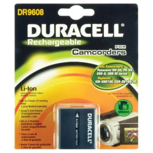 Duracell Camcorder Battery 7.4v 1440mAh Lithium-Ion (Li-Ion) 1440mAh 7.4V rechargeable battery