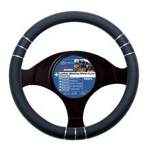 37-39cm Black 3d Wheel Cover - Steering Pvc Car Glove Chrome 3739cm Universal -  steering wheel cover black pvc car glove chrome 3739cm universal