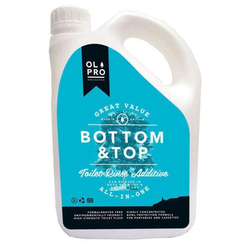 OLPRO Bottom & Top Caravan & Camping Toilet Fluid & Rinse in One (2 Litre) Twin Pack