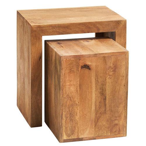 Toko Light Mango Cube Tables