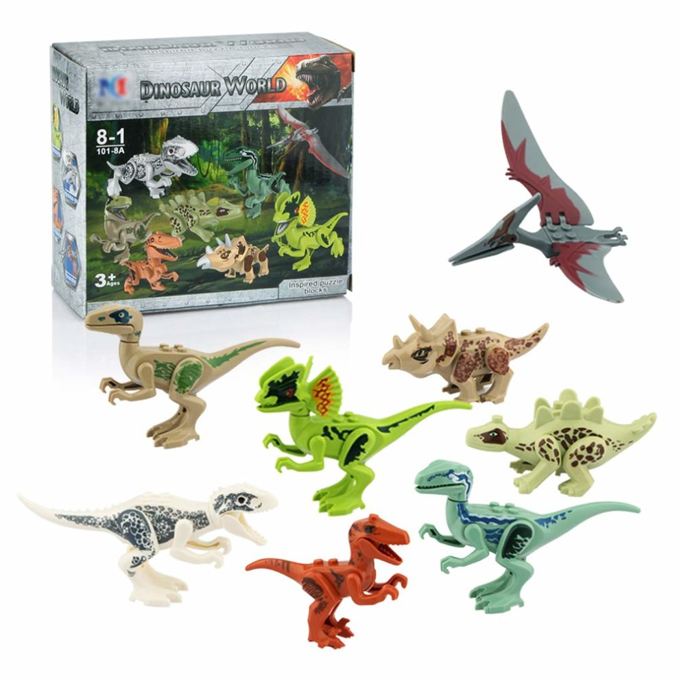 Dinosaur Building Blocks 12pcs Movable Head Mouth And Hands Dinosaur Play Figure Action Figures