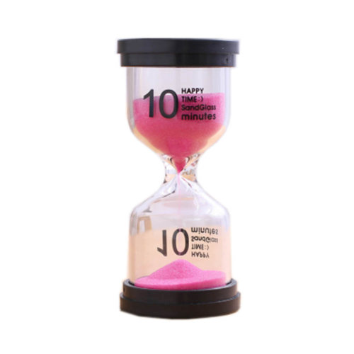 Colorful Sand Timer Hourglass Sandglass Small Ornaments Dropping Ueasily, 10 minutes + Pink