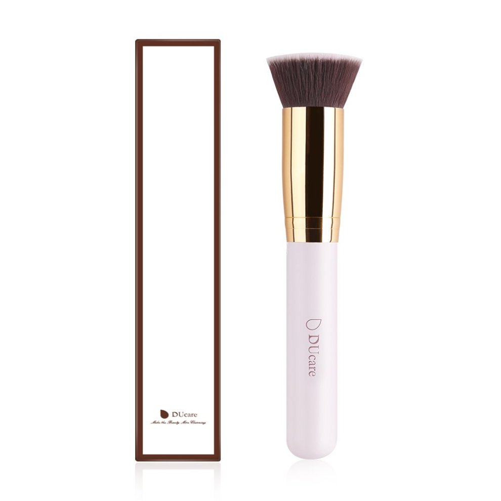 DUcare 1Pcs Contour Blush Brush Makeup Coesmetic Tools (1Pcs White Flat Top) on OnBuy