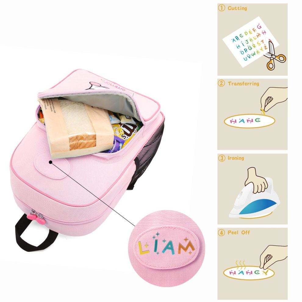 2a90ea1416 ... mommore 2 in 1 Cute Unicorn Kids Backpack with Insulated Lunch Bag for  Boys and Girls ...