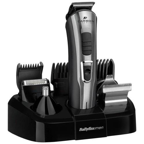 Babyliss Carbon Titanium 10-in-1 Men's Face & Body Hair Shaver Multi-Groomer Kit
