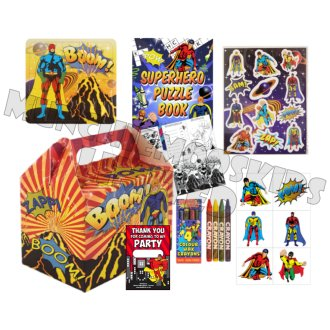 Pre-Filled Superhero Party Box   Kids' Superhero Party Gift Box