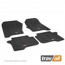 Travall Rubber Car Floor Mats [rhd] - Volvo V70/xc70 (2007-2016) (4pcs+fix)