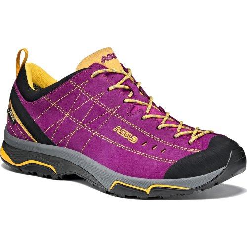 Asolo Womens Nucleon GV ML Shoes Verbena/Yellow (UK5 / EU38 / US6.5 GORE-TEX)