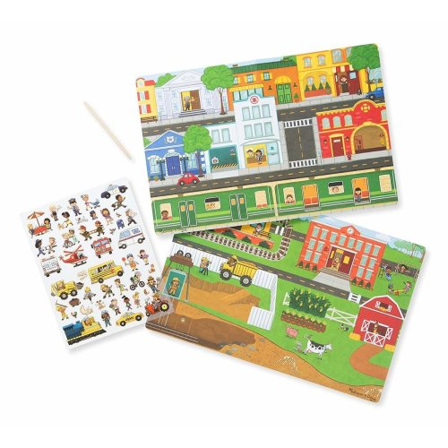 Melissa and Doug Transfer Sticker Scenes Around the Town