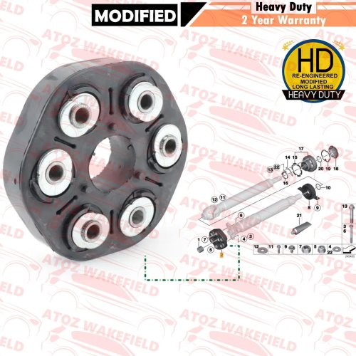 FOR BMW 1 3 5 6 7 SERIES X3 FRONT PROPSHAFT MOUNTING COUPLING DOUGHNUT