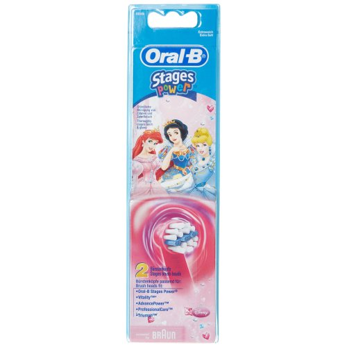 Braun Oral-B Stages Power Kids Replacement Brush Heads Disney Princess 2 Pack