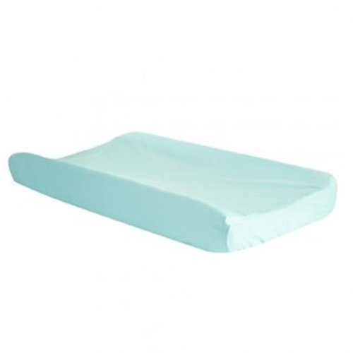 Trend Lab 100686 Seashore Waves Changing Pad Cover - Blue, Grey & White
