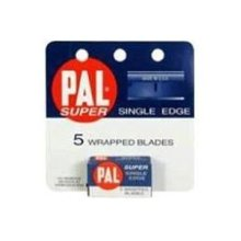 pal Single Edge Razor Blades, 5 Count