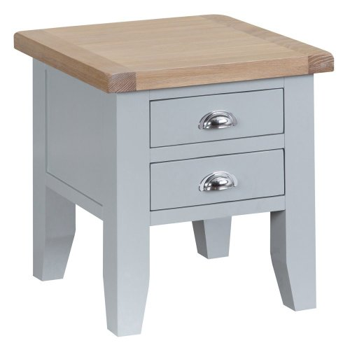 Suffolk Grey Painted Oak Lamp Table