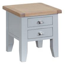 Suffolk Grey Painted Oak Lamp Table