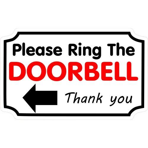 1 x Please Ring The Doorbell Left Sticker House Home Front Door Bell