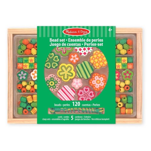 Melissa & Doug Flower Power Wooden Bead Set With 150+ Beads