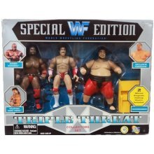 WWF SPECIAL EDITION TRIPLE THREAT COLLECTORS SET ACTION FIGURE