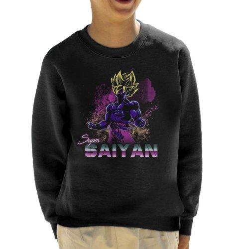 Retro Super Saiyan Dragon Ball Z Kid's Sweatshirt