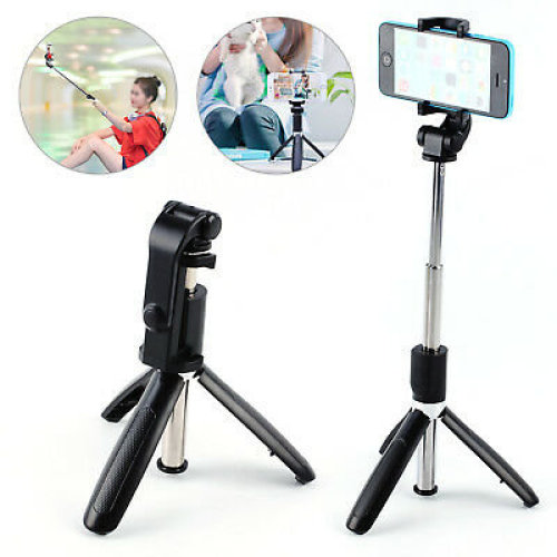 Selfie Tripod Phone Holder Stick Monopod Long Arm&Easy Control Foldable Gifts UK