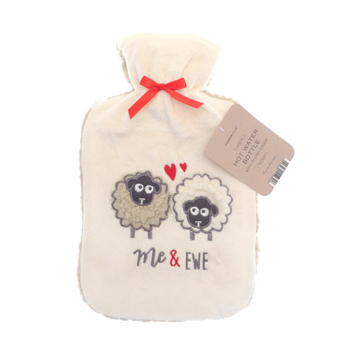Country Club Plush Applique Hot Water Bottle, Me & Ewe