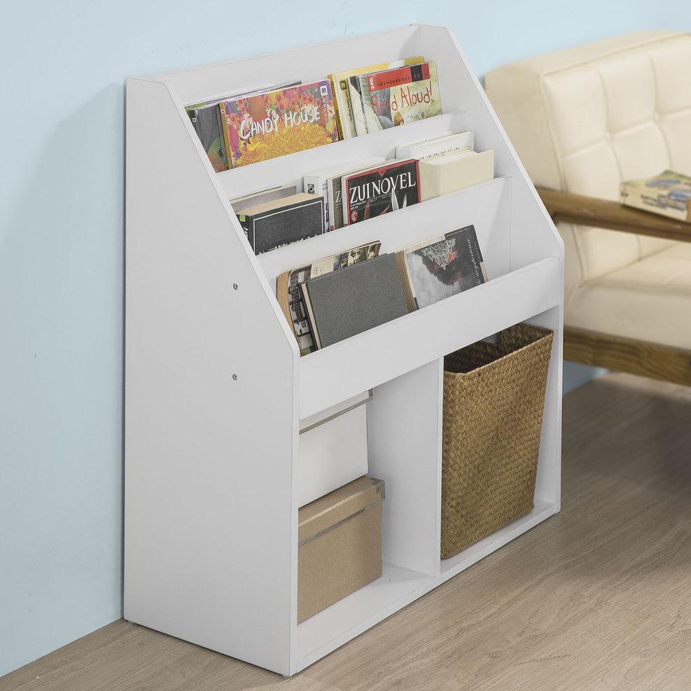 So Kmb01 W Children Kids Bookcase Book Shelf Storage Display Rack Organizer Holder