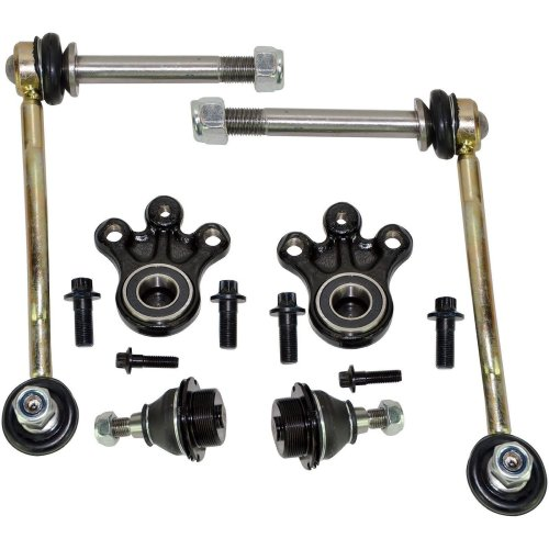 FOR CITROEN C5 C6 FRONT SUSPENSION LOWER & UPPER BALL JOINTS + DROP LINKS KIT