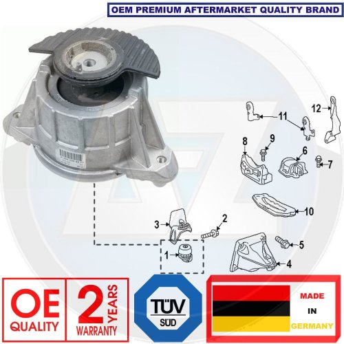 FOR MERCEDES C E CLASS W204 W212 1 FRONT LEFT RIGHT HYDRO ENGINE MOUNTING MOUNT