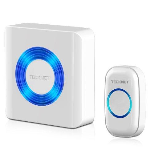 TeckNet Premium Wall Plug-in Wireless Cordless Doorbell Door Chime