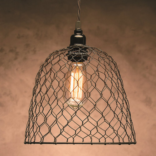 """Metal Chickenwire Dome Lampshade 10""""X8.25""""-"""