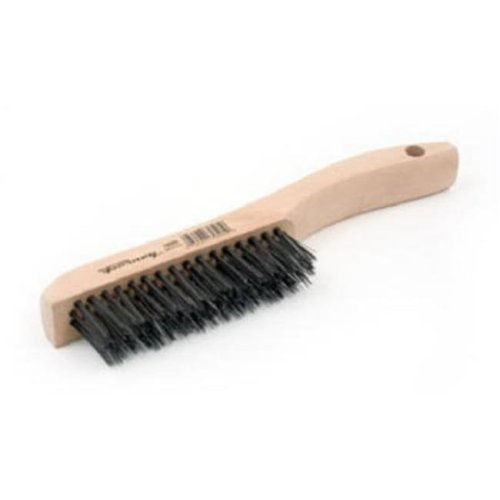 Forney Industries 70505 Carbon Steel Wire Scratch Brush with Wood Shoe Handle