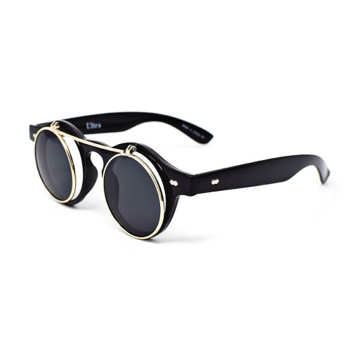 Ultra Flip Up Steampunk Glasses Uv400