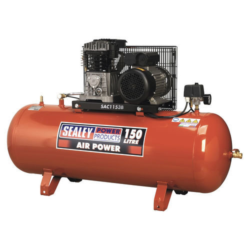Sealey SAC1153B 150ltr Belt Drive Compressor 3hp with Cast Cylinders