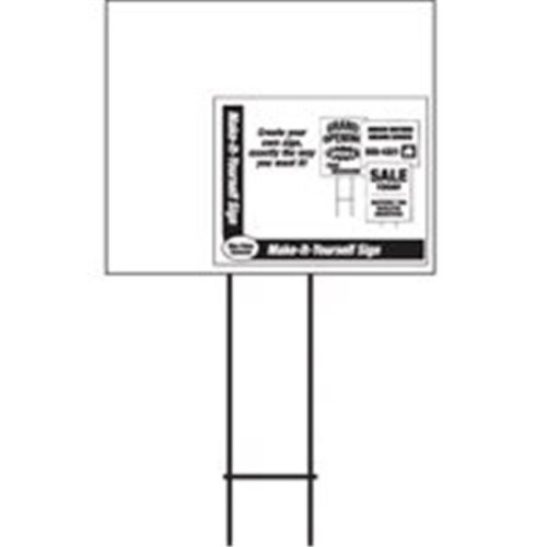 Hy-Ko Products lbL-7 Blank Corrugated Sign 20 x 24 In.