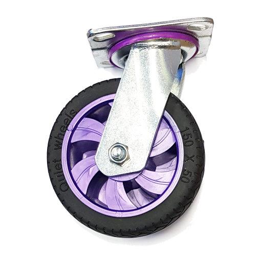 6 Inch 150mm Heavy Duty Rubber Swivel Castor Wheel For Trolley Dolly Caster