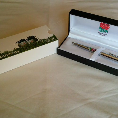 England Rugby Executive Pen in Gift Box - Chrome Ball Point Pen
