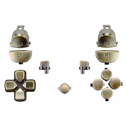ZedLabz replacement trigger, action, d-pad & option / share button set mod kit for Sony PS4 Pro JDM-040 controllers - bronze