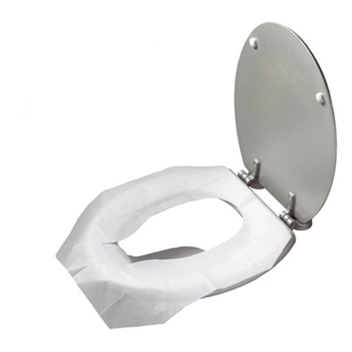 1 PACK 15PC DISPOSABLE TOILET SEAT COVERS CAMPING FESTIVAL PUBLIC LOO TOILETS