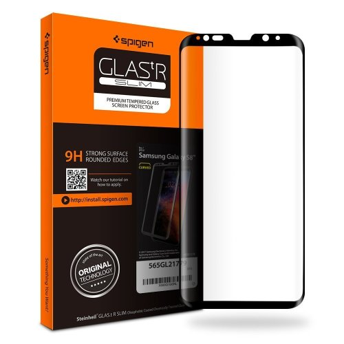 Spigen Samsung Galaxy S8 Tempered Glass Screen Protector Full Cover