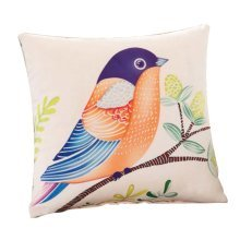 Lovely Bird Elegant Square Decorative Throw Pillow Hold Pillows, 15 X 15""