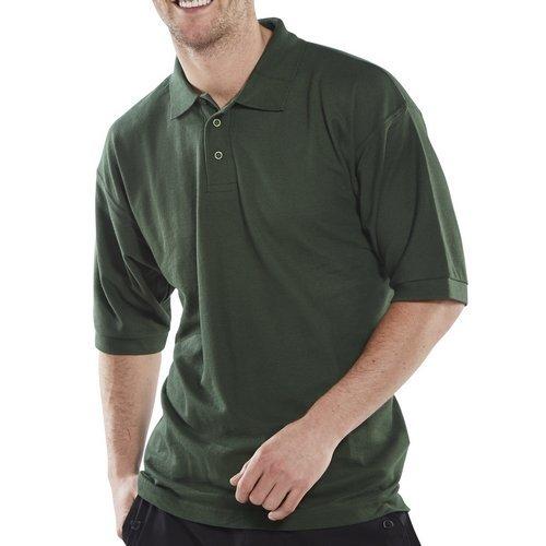 Click CLPKSBGL Polo Shirt Bottle Green Large