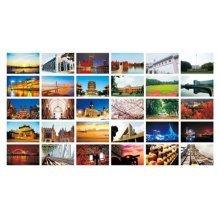 30PCS 1 Set Creative Postcards Artistic Beautiful Postcards, Wuhan Impression
