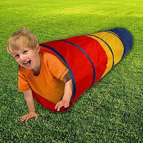 Toy Cubby 6-feet Fun Exploration Pop-up Tunnel Play Tent Kids Tube