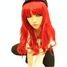 Classic Wine Red Long Curl Wavy Hair Wigs Wigs for Women Full Hair Wigs