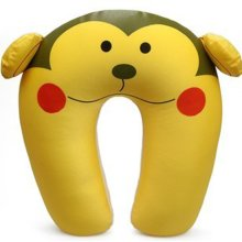 Nanoparticles Cartoon Neck Foam Particles U-shaped Pillow Neck Pillow (Monkey)
