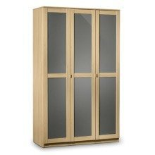 Prowder Light Oak 3 Door Wardrobe