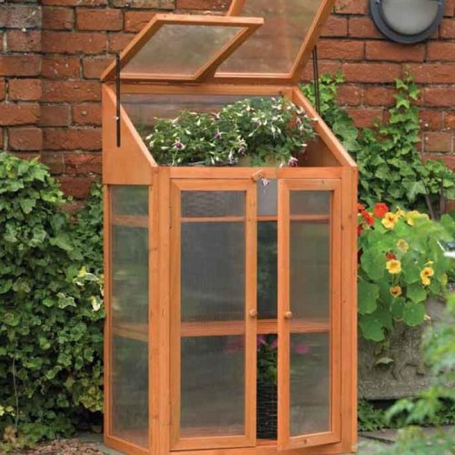 Wooden Mini Greenhouse With Polycarbonate Glazing. H120 x W69 x D51cm