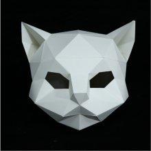 DIY Paper Mask Animal Cat Head Creative