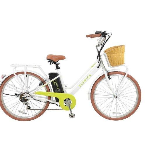 "Elswick Electric 26"" Step Through 10Ah Electric Traditional Retro Bike w/ Basket"